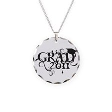 Fancy Grad 2011 Necklace Circle Charm