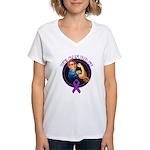 We Can Do It Alzheimers Women's V-Neck T-Shirt