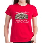 Not Born Here Women's Dark T-Shirt