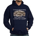 Not Born Here Hoodie (dark)