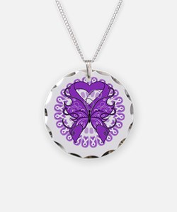 Butterfly Alzheimers Disease Necklace