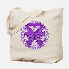 Butterfly Alzheimers Disease Tote Bag