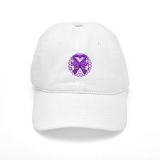 Butterfly Alzheimers Disease Baseball Cap