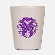 Butterfly Alzheimers Disease Shot Glass