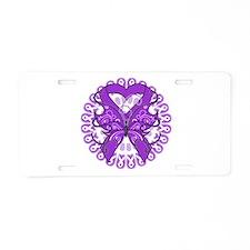 Butterfly Alzheimers Disease Aluminum License Plat