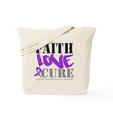 Faith Love Cure Alzheimers Tote Bag