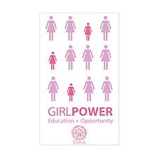 Girl Power! Pink Light Decal