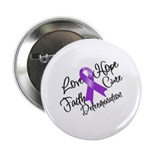 "Hope Cure Alzheimers 2.25"" Button"