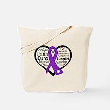 Hope Heart Alzheimers Tote Bag