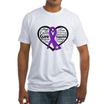 Hope Heart Alzheimers Fitted T-Shirt