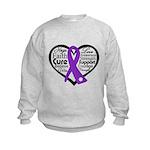 Hope Heart Alzheimers Kids Sweatshirt