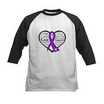 Hope Heart Alzheimers Kids Baseball Jersey
