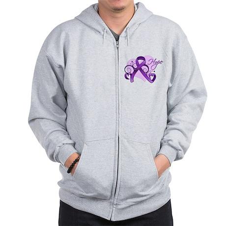 Hope Alzheimers Disease Zip Hoodie