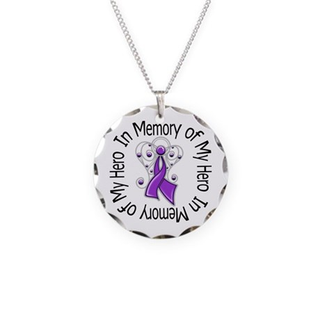 In Memory Alzheimer's Disease Necklace Circle Char