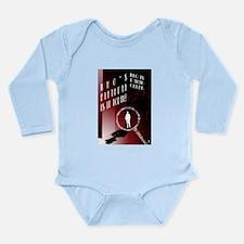 Detective Long Sleeve Infant Bodysuit