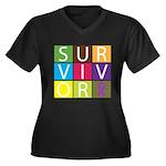 Epilepsy Survivor Tiles Women's Plus Size V-Neck D