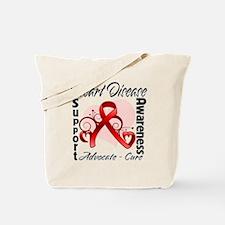Heart Disease Awareness Tote Bag