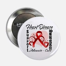 "Heart Disease Awareness 2.25"" Button"