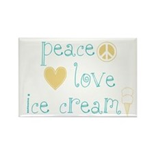 Peace, Love and Ice Cream Rectangle Magnet