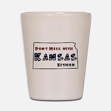Cute Kansas jayhawks Shot Glass
