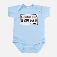 Cute Kansas jayhawks Infant Bodysuit