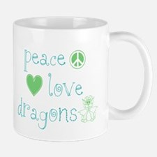 Peace, Love and Dragons Mug
