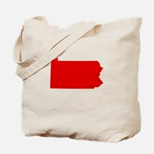 Red Pennsylvania Tote Bag