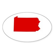 Red Pennsylvania Decal