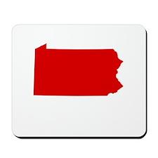Red Pennsylvania Mousepad