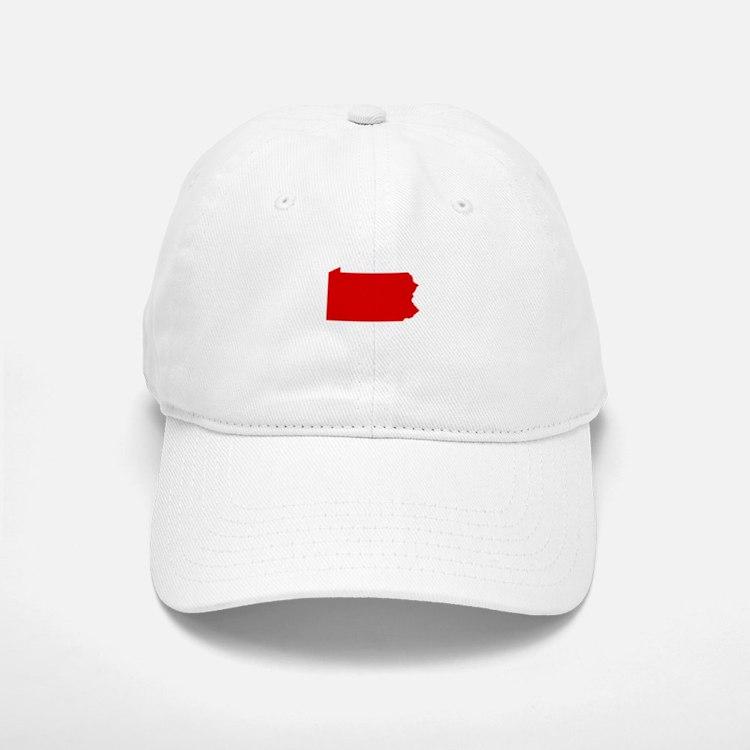 Red Pennsylvania Baseball Baseball Cap