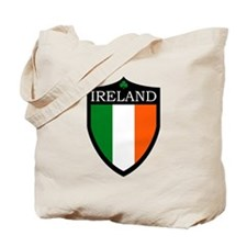 Ireland Flag Patch Tote Bag