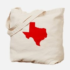Red Texas Tote Bag