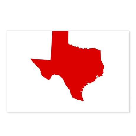 Red Texas Postcards (Package of 8)
