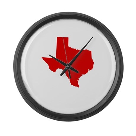 Red Texas Large Wall Clock