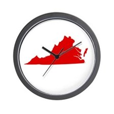 Red Virginia Wall Clock