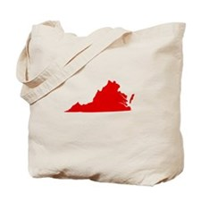 Red Virginia Tote Bag