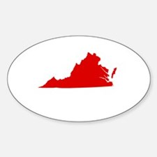 Red Virginia Decal
