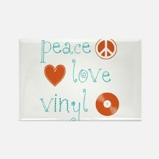 Peace, Love and Vinyl Rectangle Magnet