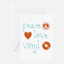 Peace, Love and Vinyl Greeting Card