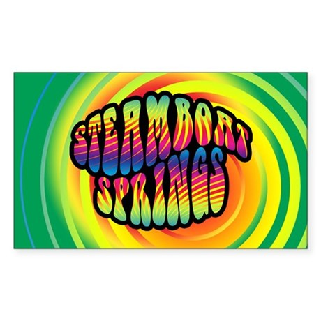 Steamboat Springs Sticker (Rectangle)
