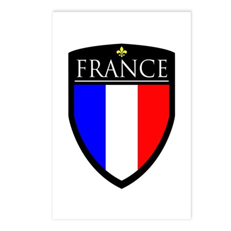 France Flag Patch Postcards (Package of 8)