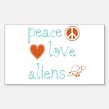 Peace, Love and Aliens Decal