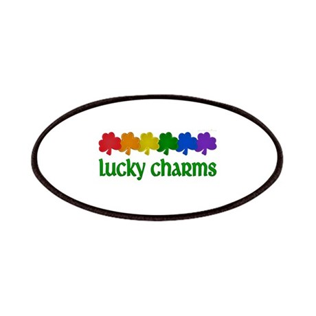 Rainbow Shamrock Lucky Charms Patches