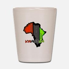 Kwanzaa Africa Shot Glass