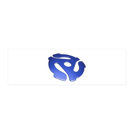 Blue 3D 45 RPM Adapter 21x7 Wall Peel