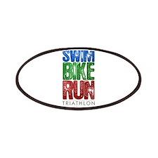 Swim, Bike, Run - Triathlon Patches