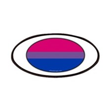 Oval Bi Pride Flag Patches