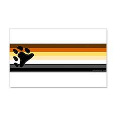 Bear Pride Flag 22x14 Wall Peel