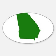 Green Georgia Sticker (Oval)