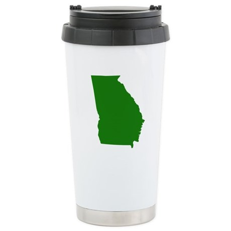 Green Georgia Stainless Steel Travel Mug
